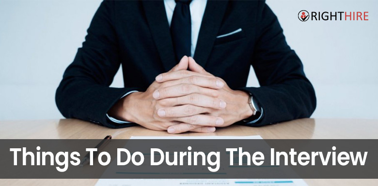 Things to do during the interview
